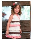 Vestido niña en piqué con volantes de nekenia