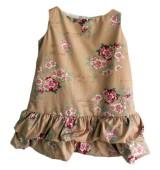 Vestido de niña abullonado de CESAR BLANCO